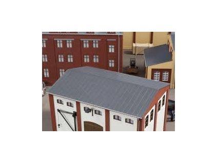 H0 - Plechová střecha, 2 ks 154 x 110 mm / BKS Auhagen 80305