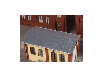 H0 - Plechová střecha, 2 ks 143 x 63 mm / BKS Auhagen 80306
