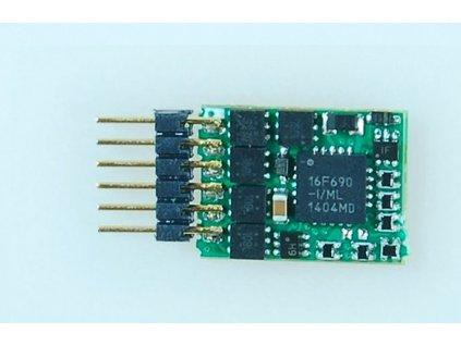 lokodekodér N45P - NEM651, ABC, RailCom, 4 funkční výstupy, SUSI / KUEHN 82330