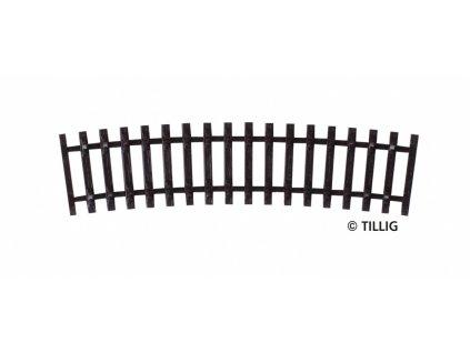 TT - R22 - obloukový pražcový pás R353 /15 st / Tillig 83007