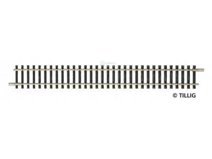 TT - Rovná kolej 166 mm, G1  - modelová, bez podloží / Tillig 83101