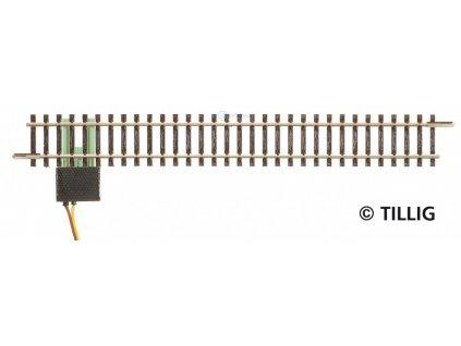 TT - Rovná přípojná kolej, 166 mm pro analog, kondenzátor / Tillig 83143
