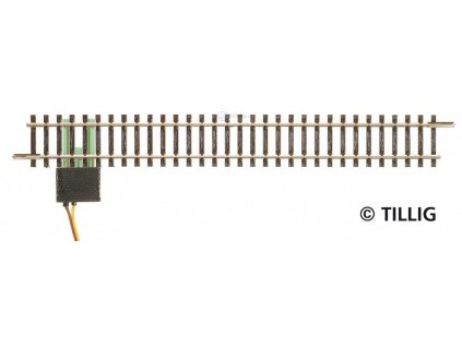 TT - Rovná přípojná kolej, 166 mm pro analog / Tillig 83143