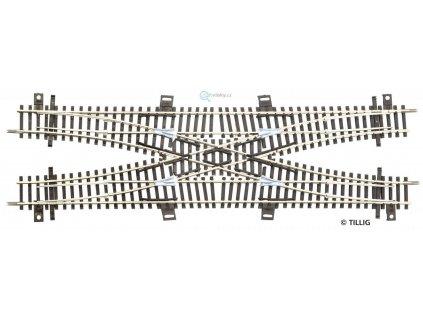 TT - dvojité kolejové křížení DGV 253 mm 30° / TILLIG 83211