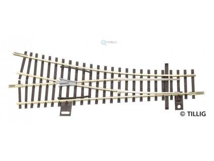 TT - výhybka EW1 pravá 15° R353, 129,5 mm / TILLIG 83323