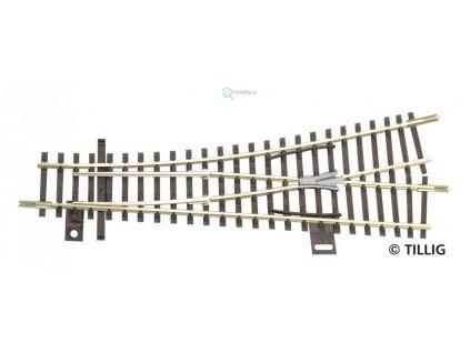 TT - Výhybka levá  EW1  129,5 mm, odbočení 15° R353 / TILLIG 83324