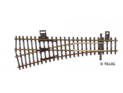 TT - výhybka levá  EW1 -15°, patina / TILLIG 83327