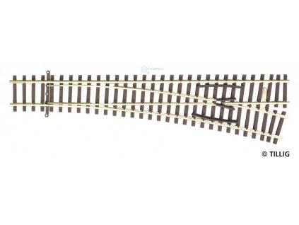 TT - Výhybka pravá, EW2 15°, R 631, d. 166 mm / Tillig 83331