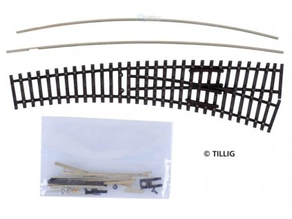TT - STAVEBNICE obloukové výhybky pravé IBW, vodivá srdcovka / Tillig 83413