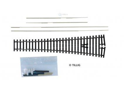 TT - Výhybka flexi 15° univerzální stavebnice FBW -EW2, ABW, IBW/ TILLIG 83420