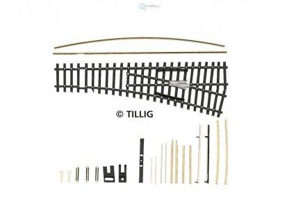 TT - EW1 výhybka pravá 15°, stavebnice / TILLIG  83433
