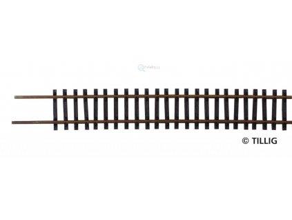 TT - Flexi kolej s patinou 664 mm, dřevěné pražce / Tillig 83495
