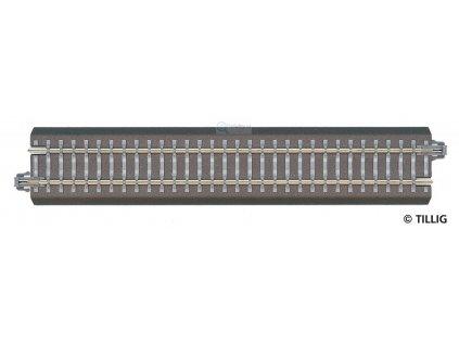 TT - BG1 - rovná kolej 166 mm s podložím / Tillig 83701