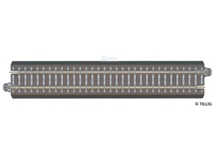382189 tt ba1 rovna pripojna kolej 166 mm pro analog i dcc tillig 83740