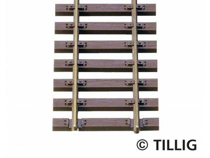 H0 - Flexi kolej 890 mm, výška profilu 2,1 mm, bez patiny / Tillig 85125