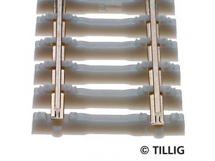 H0 - Flexi kolej s betonovými pražci, cca 445 mm / Tillig 85134