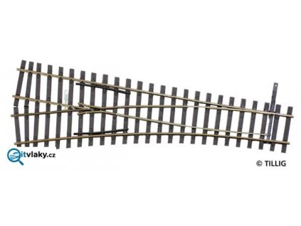 H0 - výhybka levá EW2, úhel srdcovky 15° / Tillig 85422