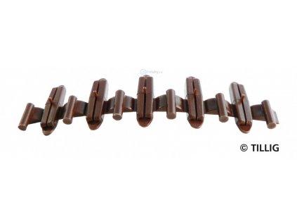 H0/TT - Izolační spojník kolejí - patina (20 ks v sáčku) / TILLIG 85502