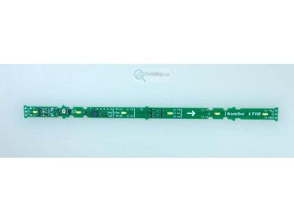 Osvětlení do os. vozů LT10, dekodér, 6ks teple bílé LED / KUEHN 86020