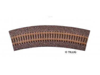 TT - Štěrkové lože pro R1 (R11 - R14) - tmavé R 310 mm 30° / Tillig 86303