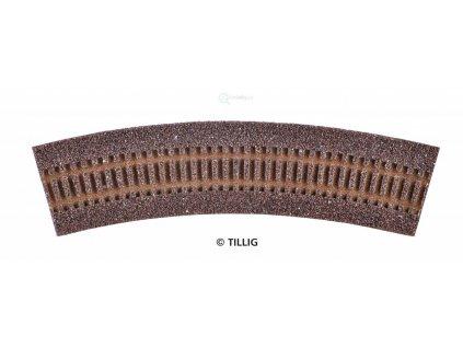 TT - Štěrkové lože pro R2 (R21 - R24) - tmavé R 353 mm 30° / Tillig 86304