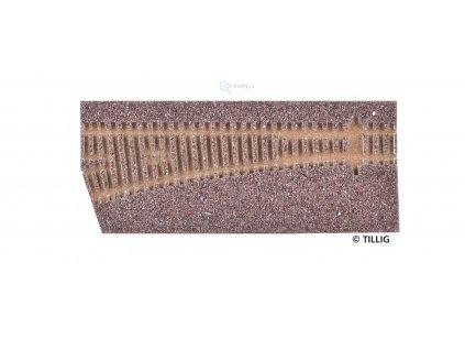 TT - Štěrkové lože pro EW2, levá, tmavé / Tillig 86332
