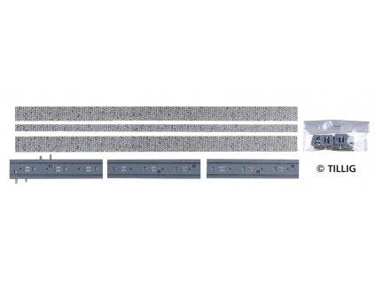 H0m - Rovná kolej s dlažebními kostkami / Tillig 87001