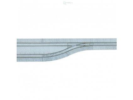 H0 - Kolej a výhybka levá s dlažebními kostkami / Tillig 87611