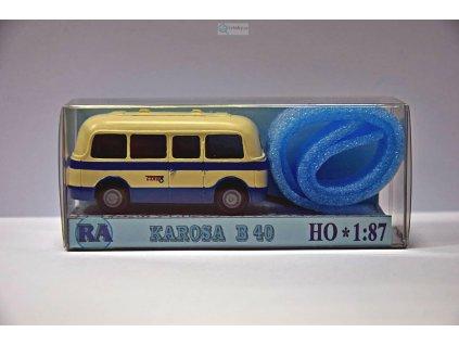 H0 - Karosa B 40, bílá/modrá / RA Došlý 910103