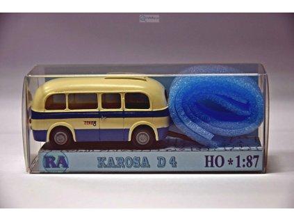 H0 - Karosa D 4, bílá/modrá / RA Došlý 910403