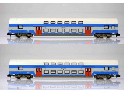 N - 2-dílný set patrových vozů Bmto ČD / KUEHN 91155