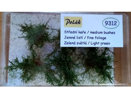 Střední keře,jemné listí - světlá zelená / Polák model 9312