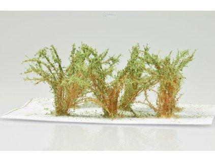 Střední keře, mikro listí - zelená vrbová / Polák model 9352