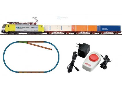 H0 - Start set lokomotiva 189 RTC FS + 3 kontejnerové vozy / PIKO 97916
