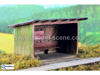 H0 - Zastávka dřevěná - stavebnice / Model Scene 98502