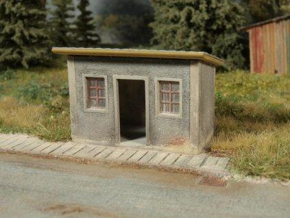 "H0 - ""Autobusová zastávka"", stavebnice / Model Scene 98507"
