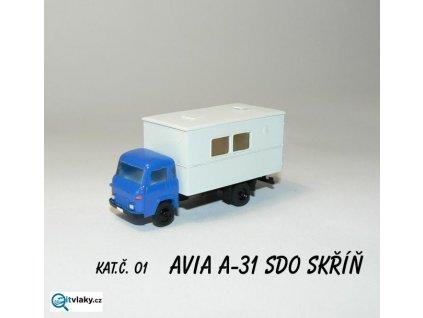 TT - auto AVIA A31-SDO skříň,  stavebnice / AP0100