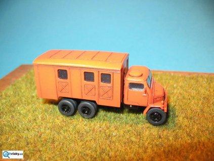 TT - Auto V3S Nástavba skříňová sestavená červená/ AP0500xč