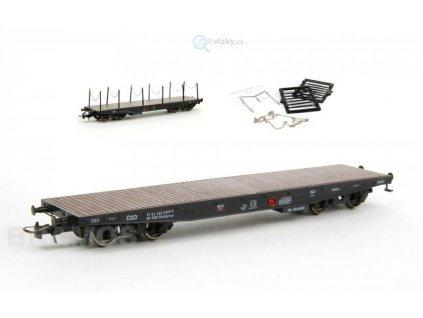 H0 - plošinový vůz Smmps 21 54 462 2977-7 s klanicemi / Bramos 3510 00