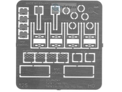 H0 -  stupačky k T478 / DETAIL 125