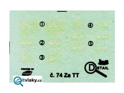 TT - obtisk Gags/Za ČSD/ DETAIL 3074