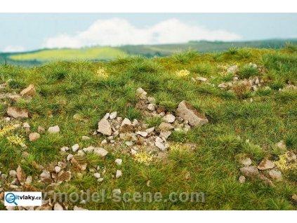 Časné léto - vápencové kameny L (silně kamenité) / Model Scene F732