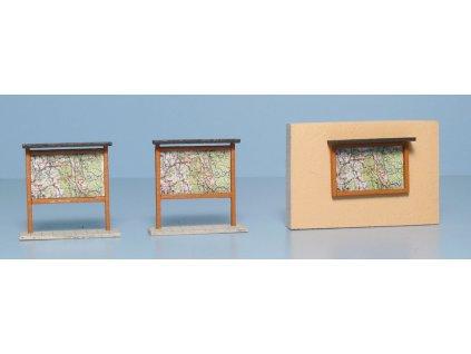 H0 - Dřevěné mapy světlé hnědé set 2 + 1 / Veramo 070102