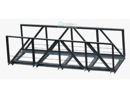 H0 - Železniční most 1-kolejný 150 mm - hotový model z kovu /Hulacki H021