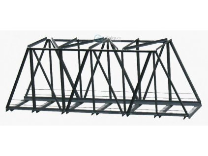 H0 - Železniční most 1-kolejný 210 mm - hotový model z kovu / Hulacki H023
