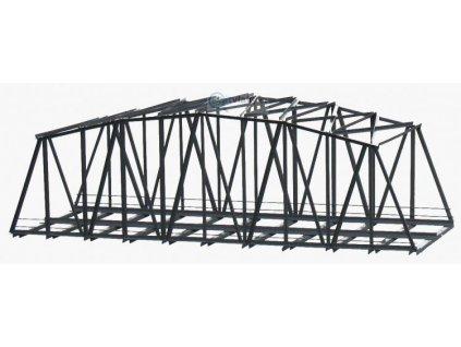 H0 - Železniční most 2-kolejný - 300 mm hotový model z kovu / Hulacki H028