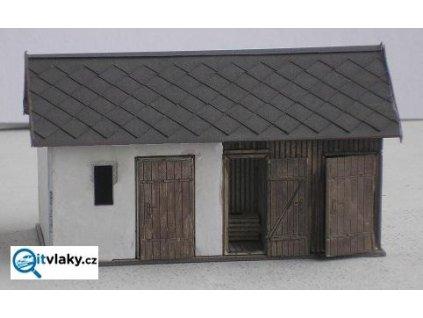 H0 - Podružná budova ZvKČ LXXXVII / KB model 5007
