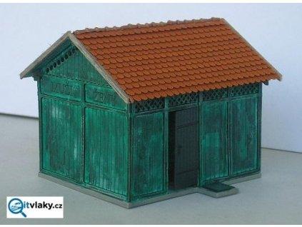 H0 - Záchod pro cestující s dřevníky / KB model LAS 5008
