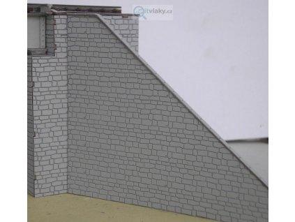 H0 - Opěrné zdi pilířů (2 páry) / KB model 5404