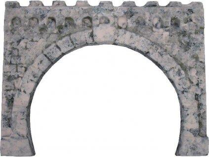 H0 - Tunelový portál dvoukolejný kamenný / HULACKI H132